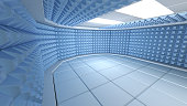 Soundproof room interior , 3d render image