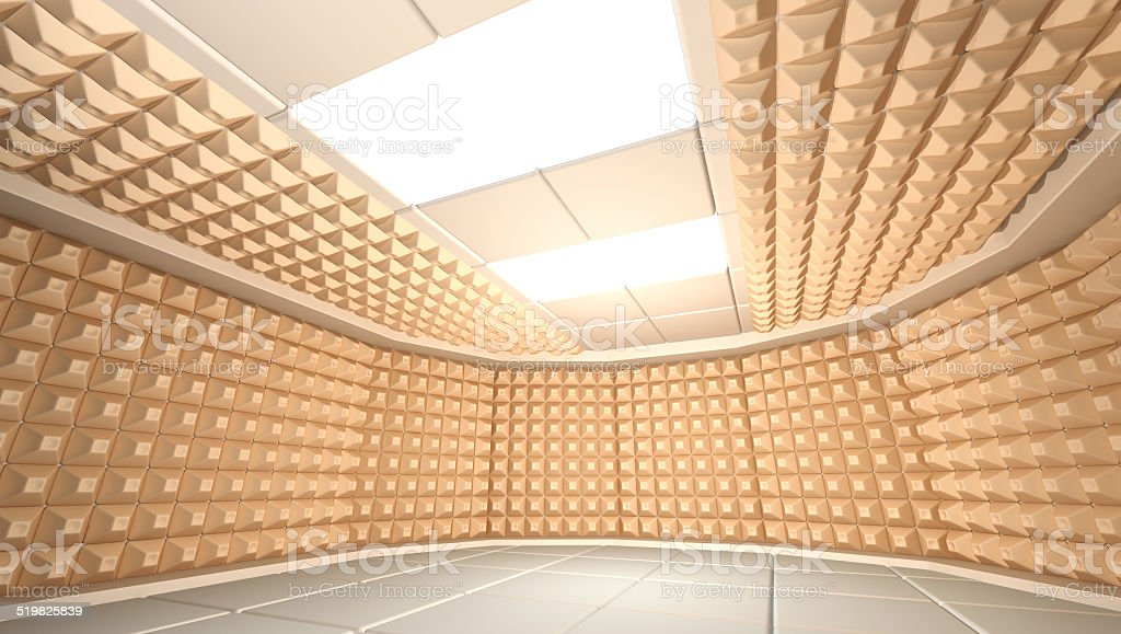 Soundproof room stock photo