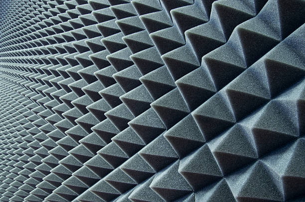 Soundproofing background Close up of sound proof coverage in music studio padding stock pictures, royalty-free photos & images