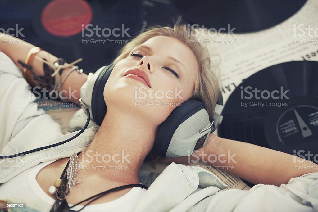 Sounds that'll soothe my soul stock photo