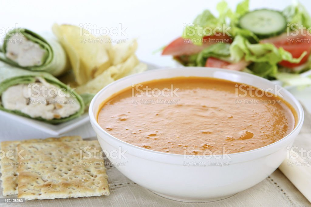 soup and salad royalty-free stock photo