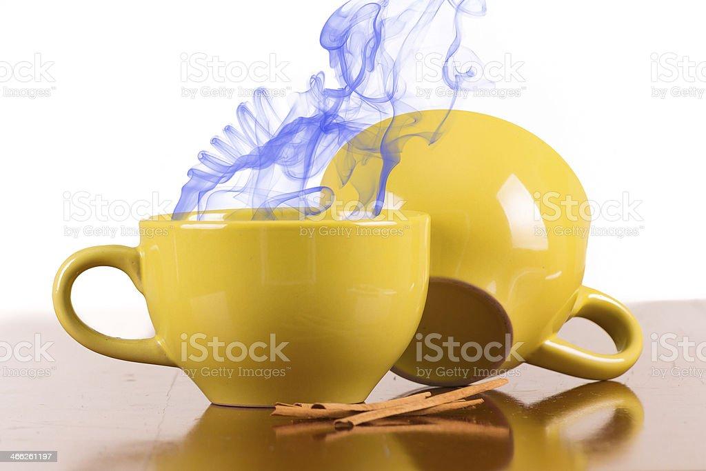 soup bowl with smoke royalty-free stock photo