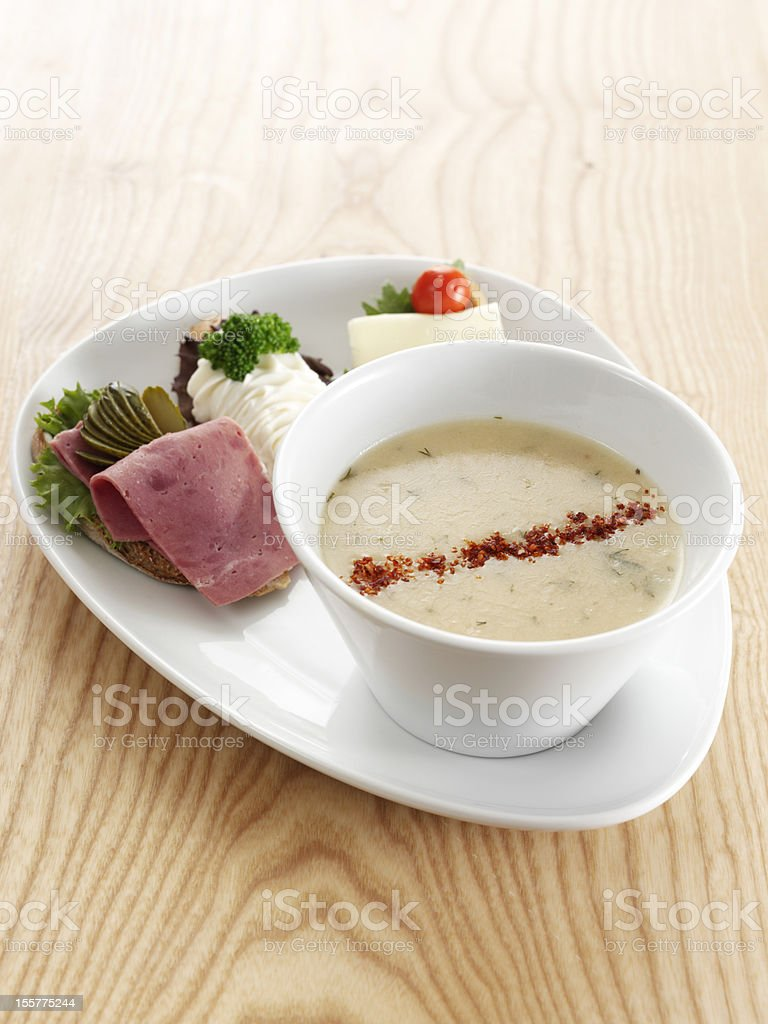 Soup dish royalty-free stock photo