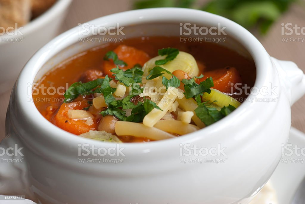Soup in a bowl royalty-free stock photo