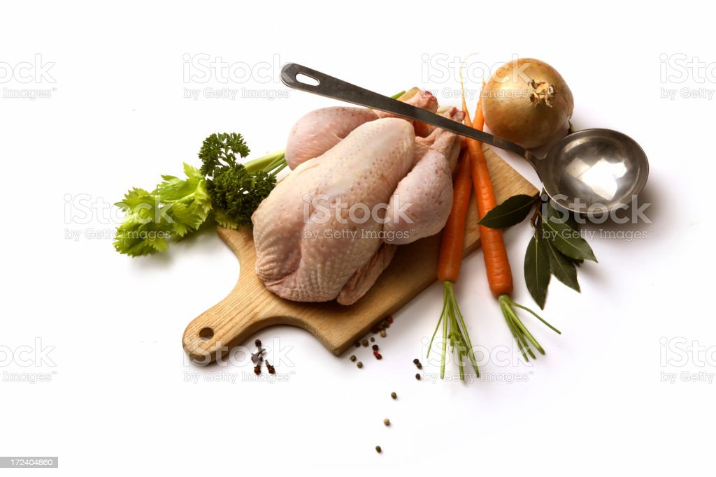 Soup Ingredients: Chicken royalty-free stock photo