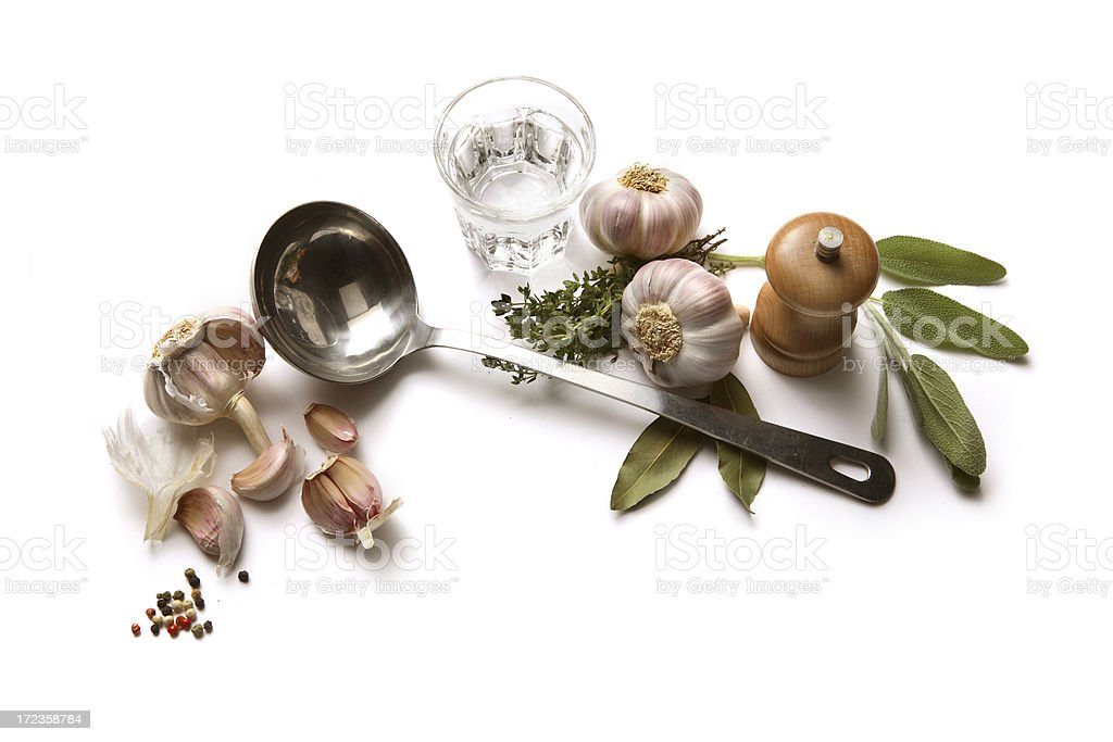 Soup Ingredients: Garlic royalty-free stock photo