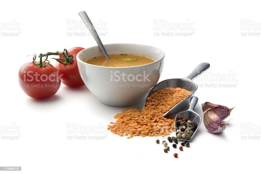 Soup Ingredients: Lentil Soup royalty-free stock photo