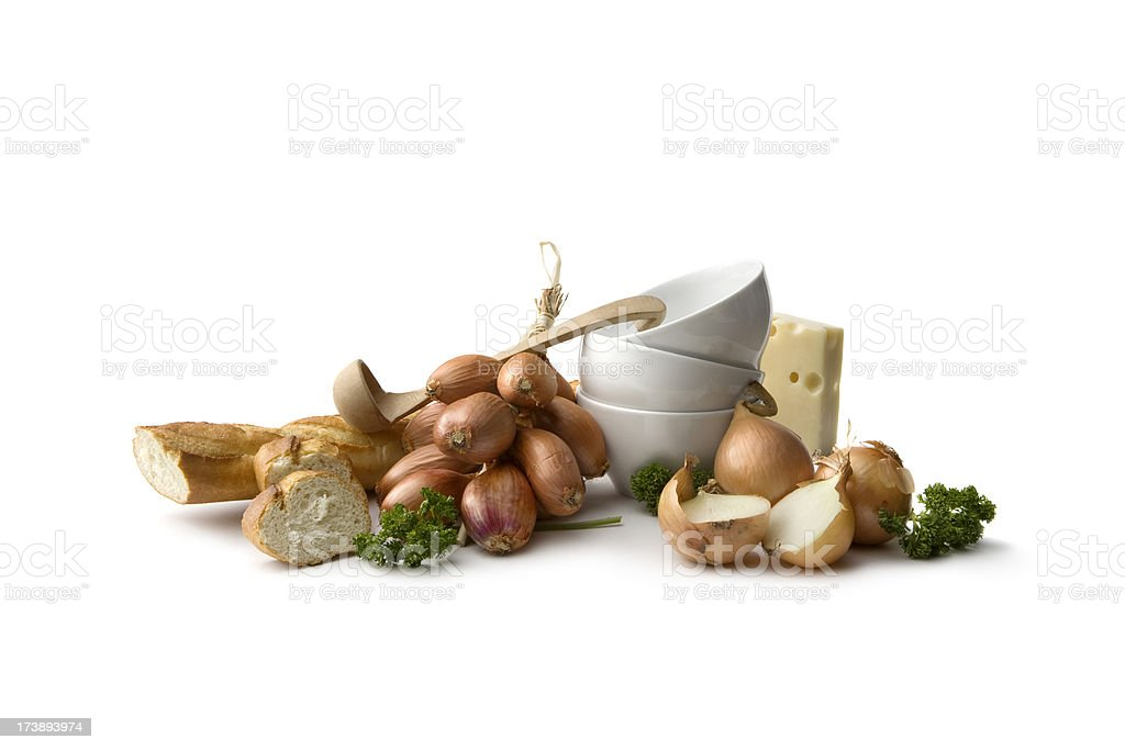 Soup Ingredients: Onion royalty-free stock photo
