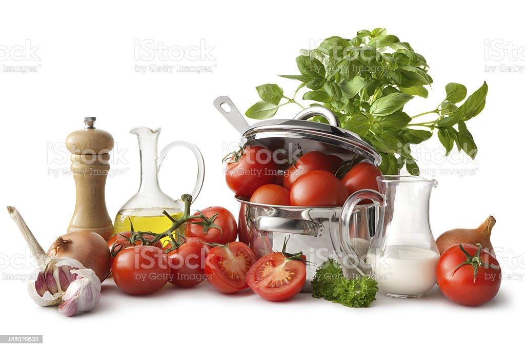 Soup Ingredients: Tomato stock photo