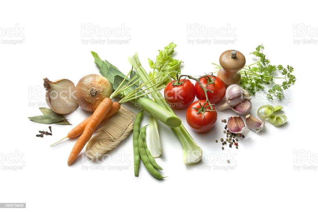 Soup Ingredients: Vegetable stock photo