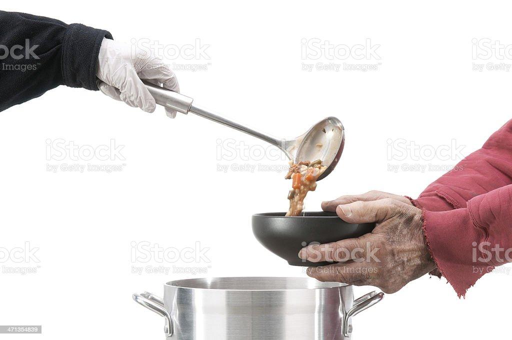 Soup kitchen royalty-free stock photo