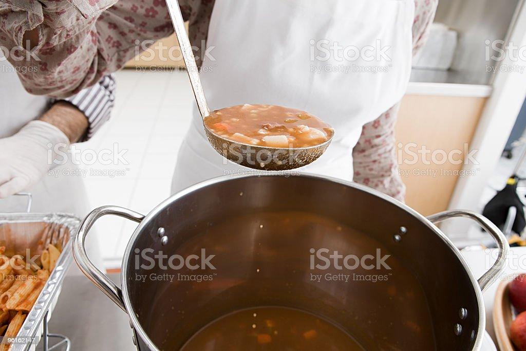 Soup kitchen stock photo