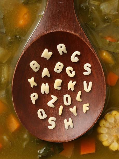 Suppe Buchstaben – Foto