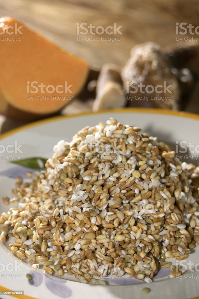 soup of cereals stock photo