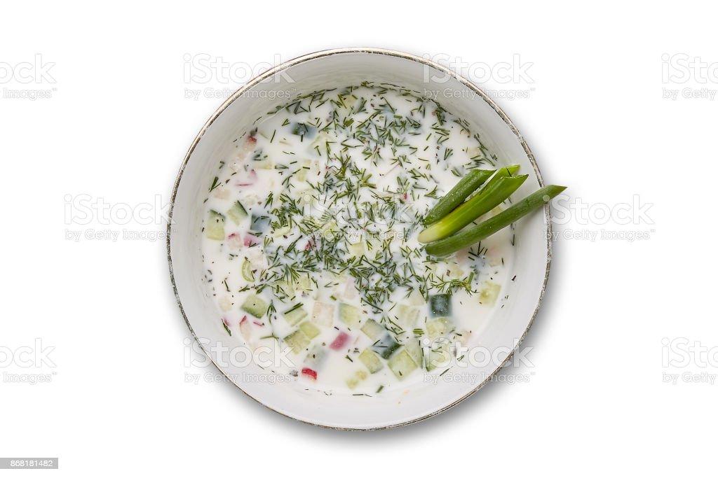 Sopa de okroshka - foto de acervo