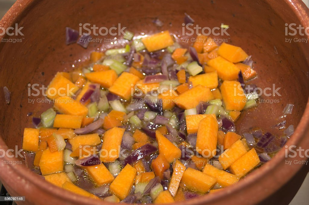 soup of vegetables stock photo