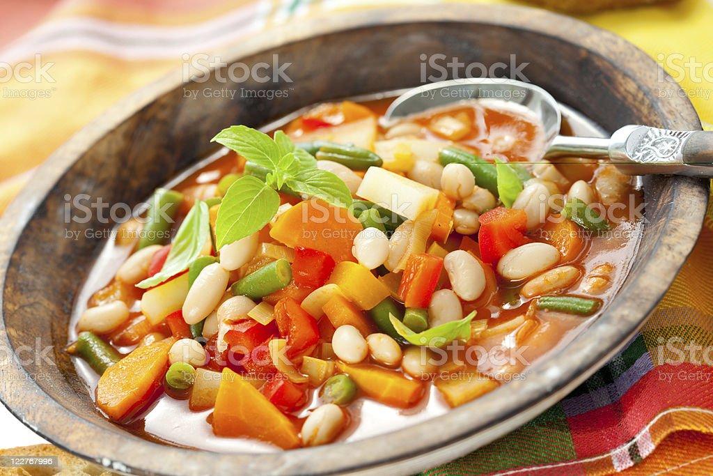 minestrone - Foto de stock de Albahaca libre de derechos