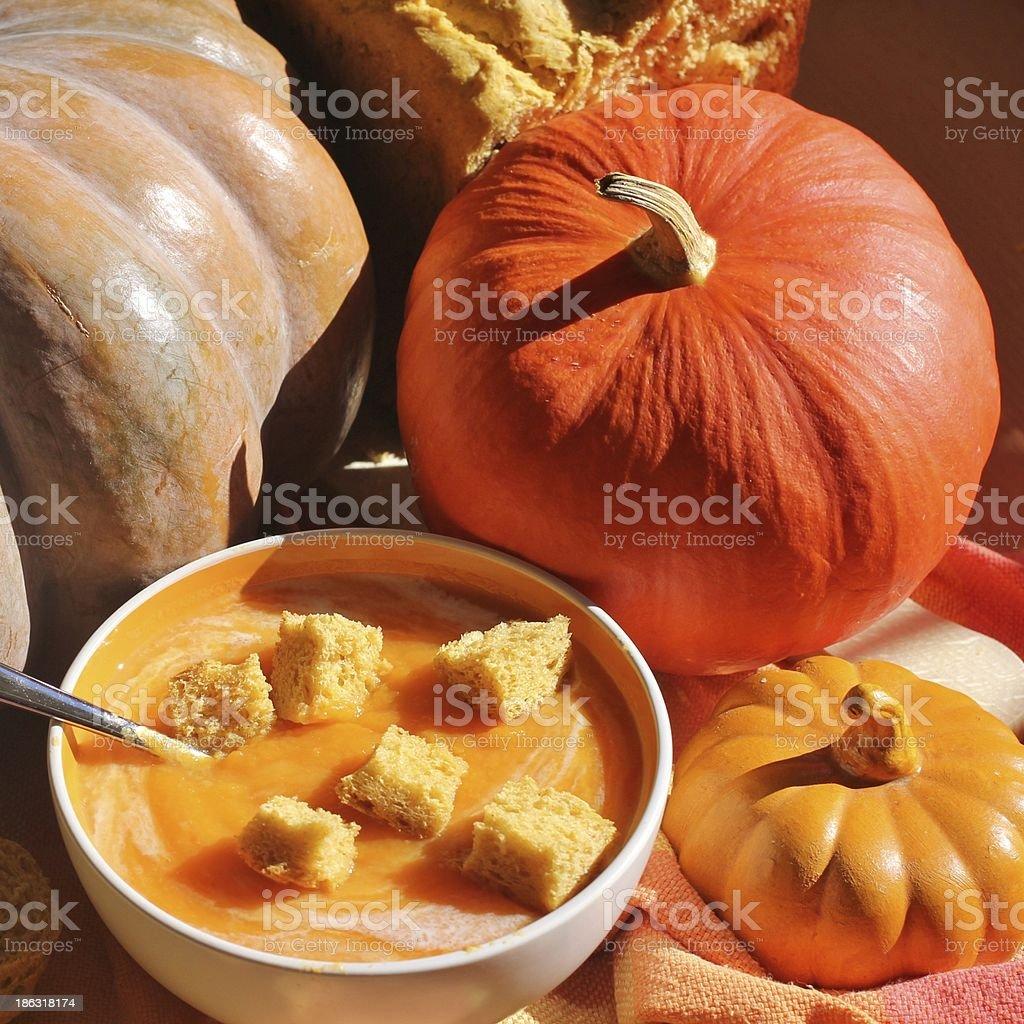 soup, pumpkin, courge, potage royalty-free stock photo