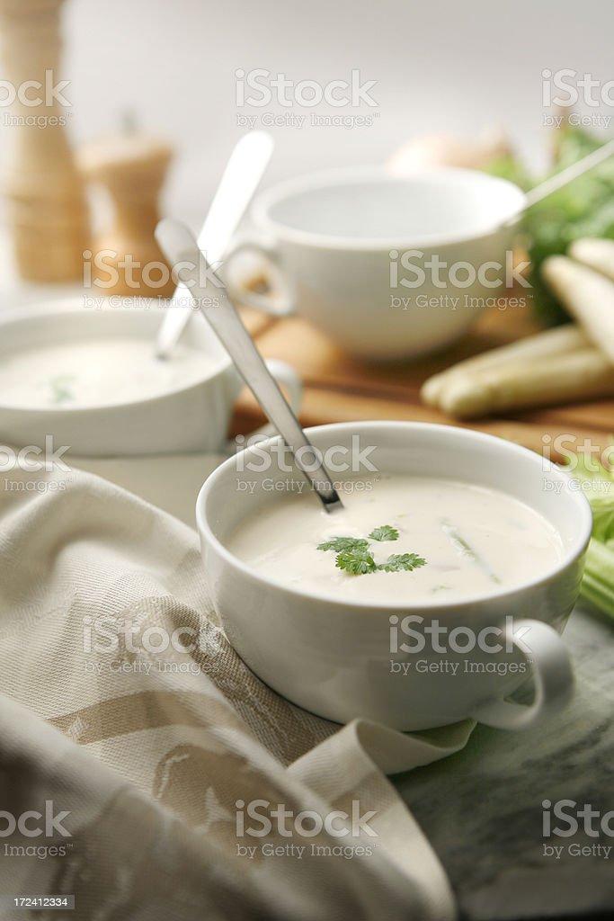 Soup Stills: Asparagus Soup royalty-free stock photo