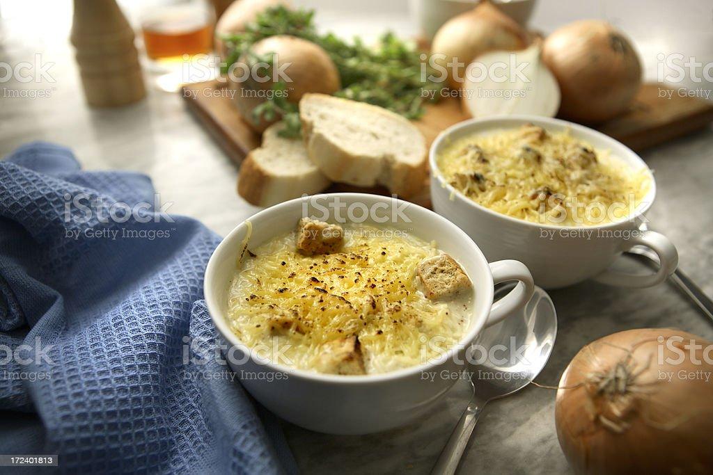 Soup Stills: Onion Soup royalty-free stock photo