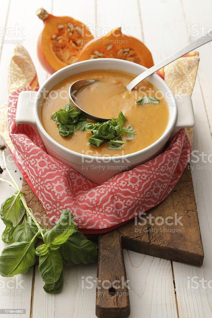 Soup Stills: Pumpkin Soup royalty-free stock photo