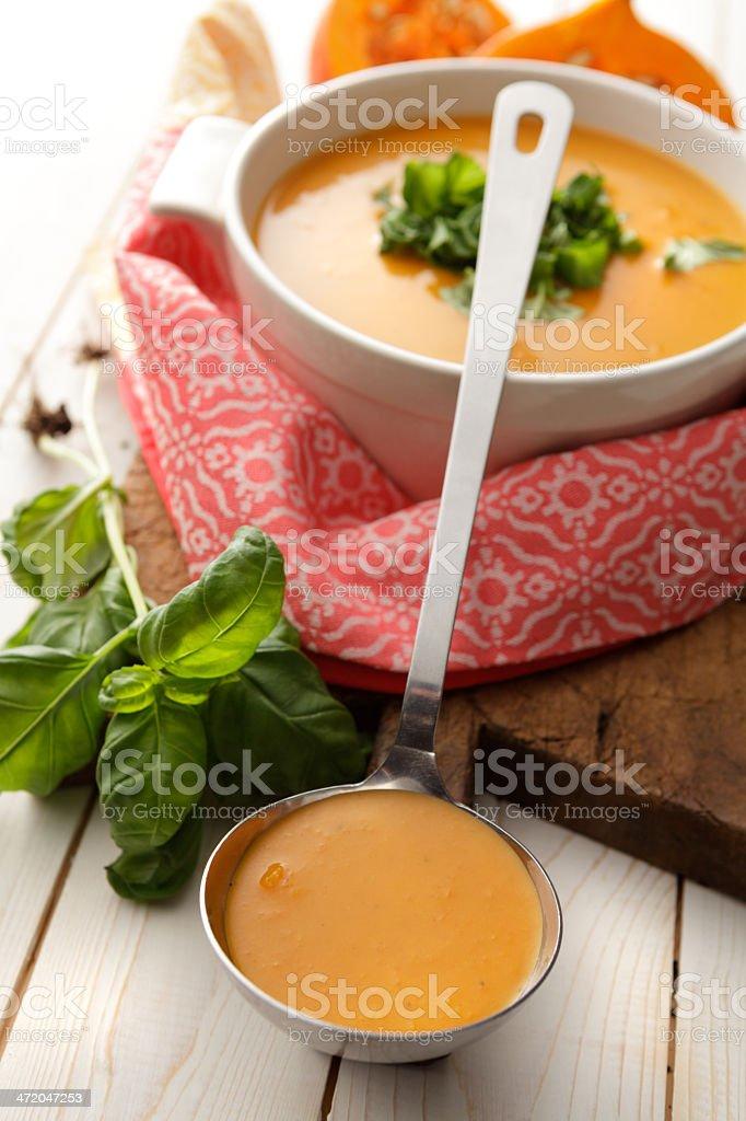 Soup Stills: Pumpkin Soup stock photo
