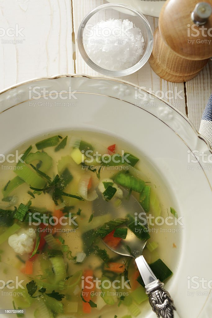 Soup Stills: Vegetable Soup royalty-free stock photo