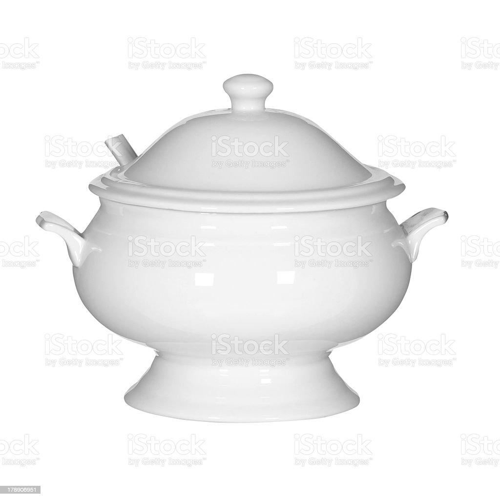 Soup tureen (clipping path) stock photo