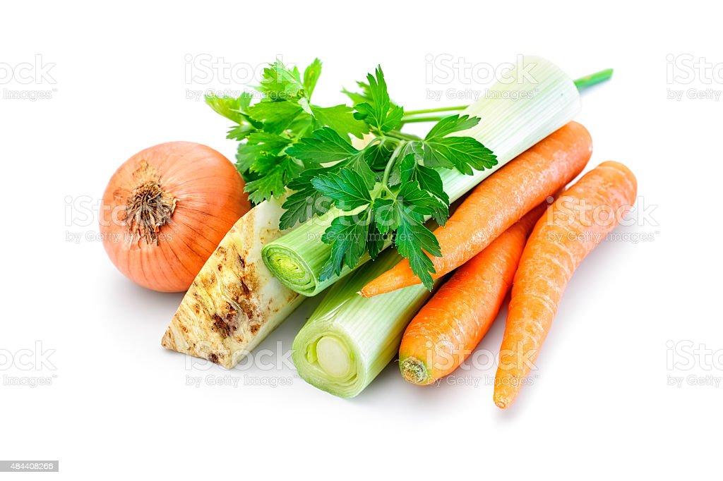 Soup vegetable mix stock photo