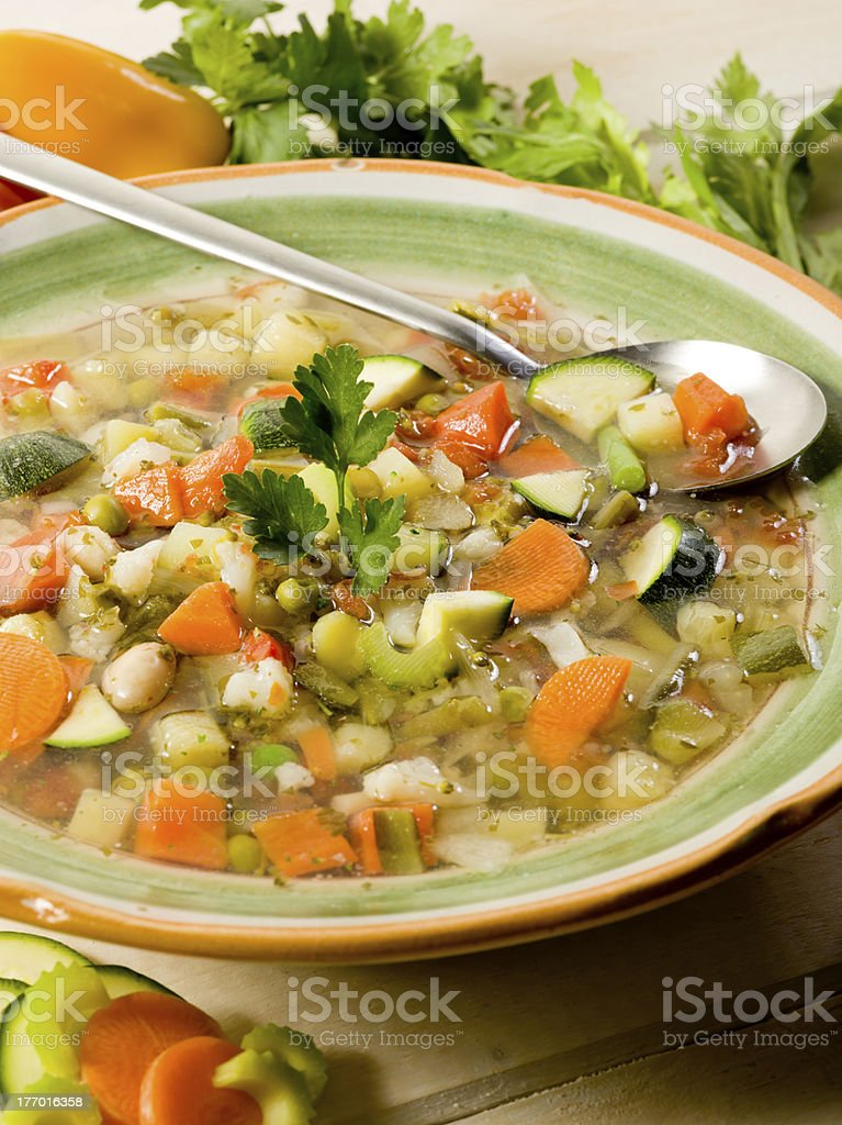 soup vegetable with ingredients royalty-free stock photo