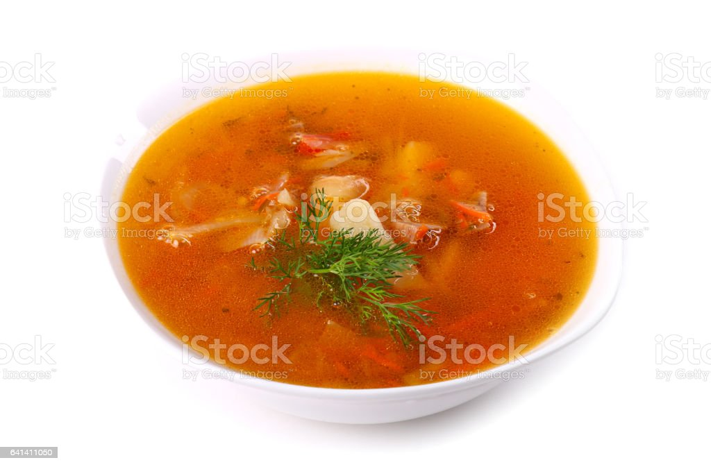 Soup with meat and potato - Photo