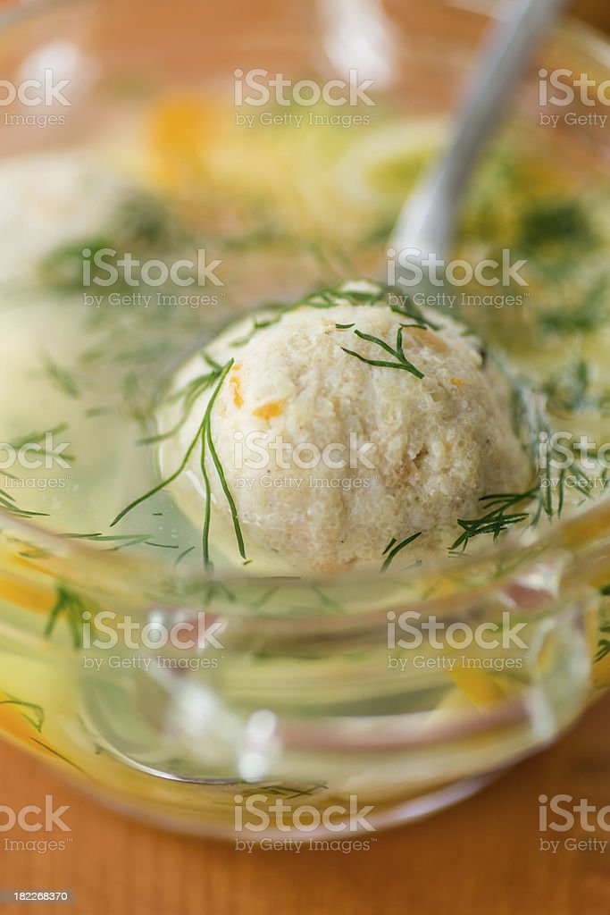 soup with meatballs royalty-free stock photo
