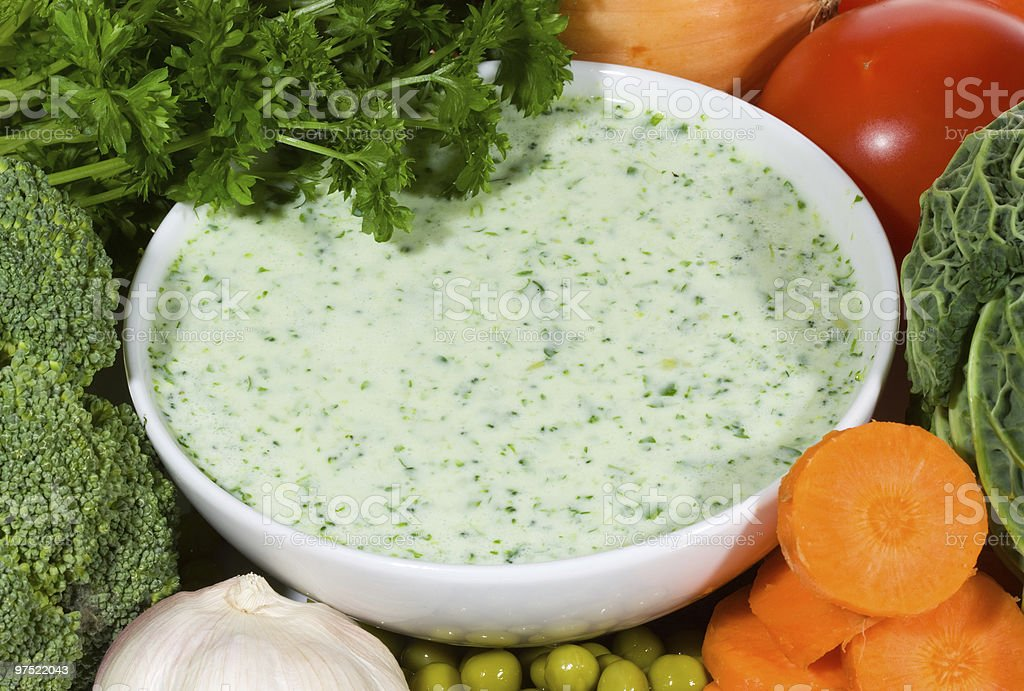 soup with vegetable royalty-free stock photo