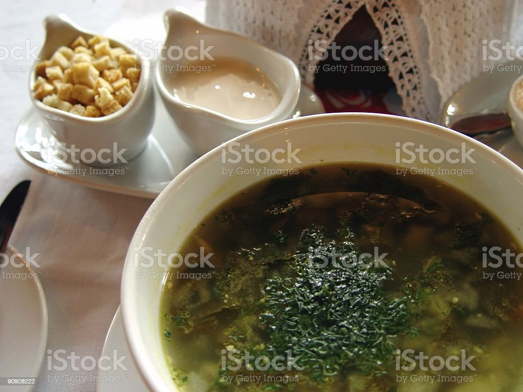 Soup with vegetables royalty-free stock photo