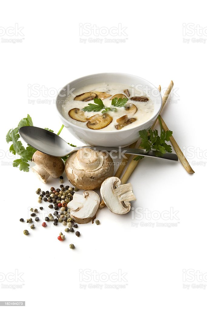 Soups: Mushrooms Soup royalty-free stock photo