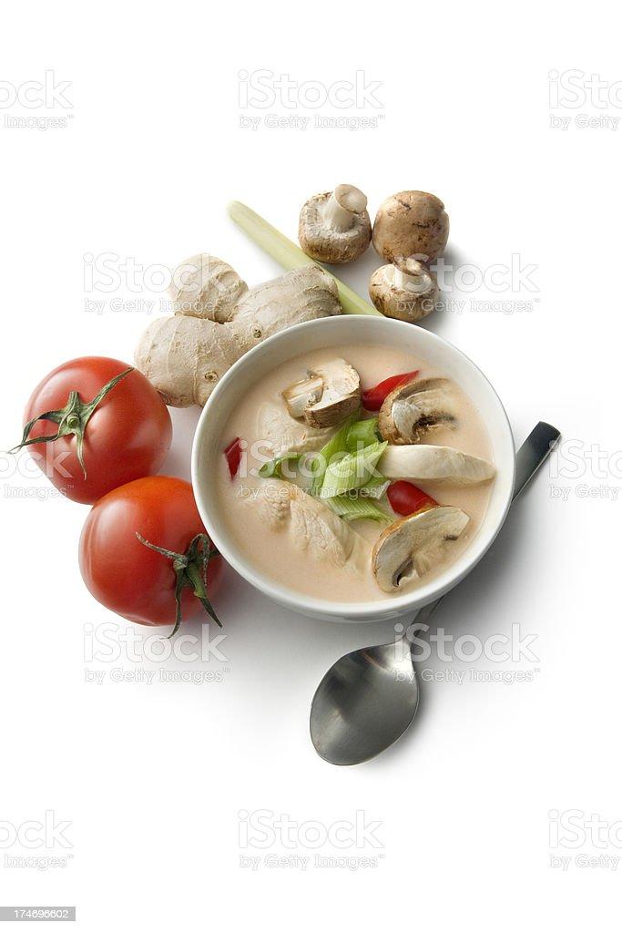 Soups: Tom Ka Kai royalty-free stock photo
