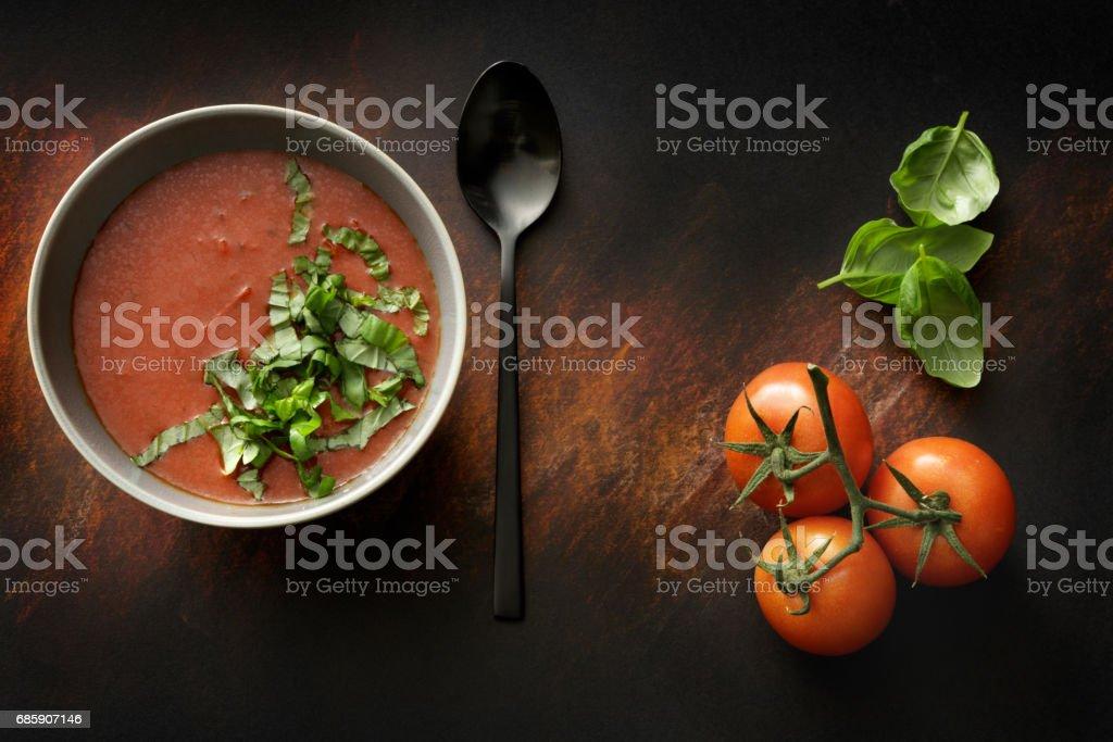 Soups: Tomato Soup Still Life stock photo