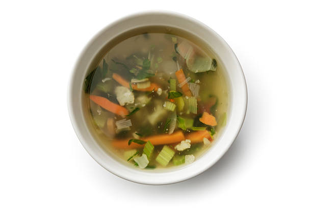 Soups: Vegetable Soup Isolated on White Background http://www.stefstef.nl/banners2/soups.jpg vegetable soup stock pictures, royalty-free photos & images
