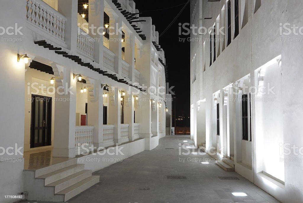 Souq Waqif at night, Doha stock photo