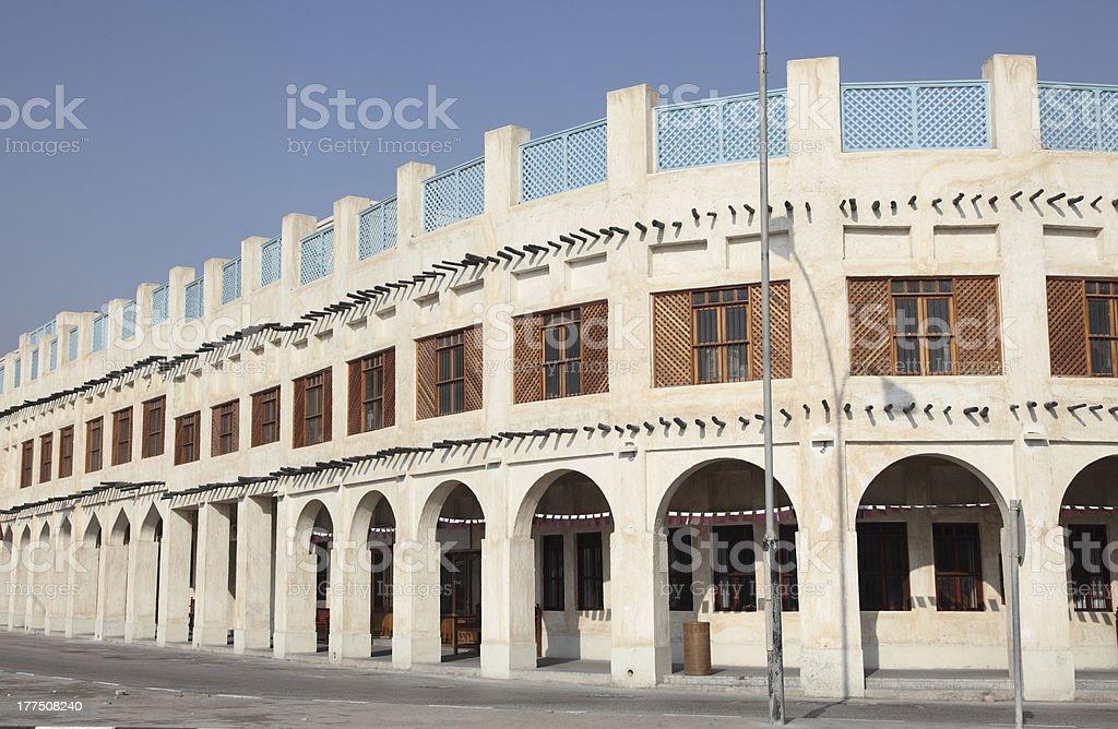 Souq Waqif in Doha. Qatar stock photo