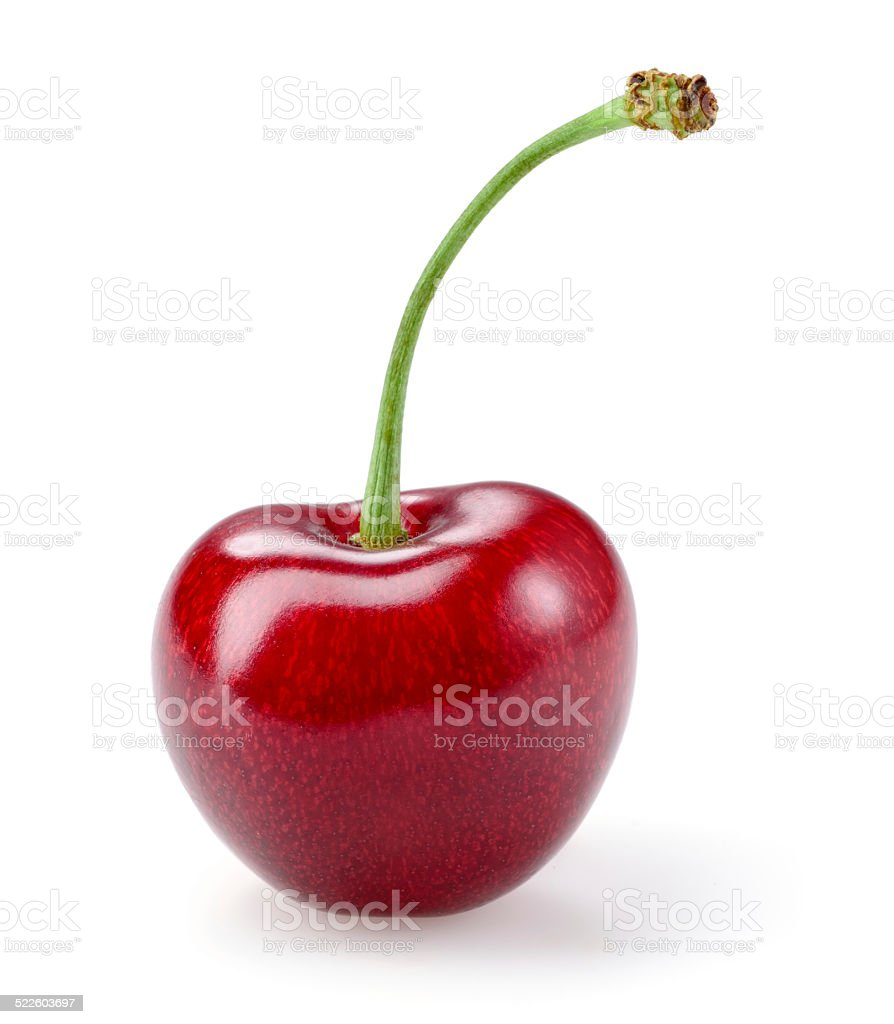 Sour cherry isolated on white background stock photo