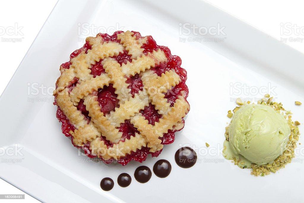 Sour cherry tartlet stock photo