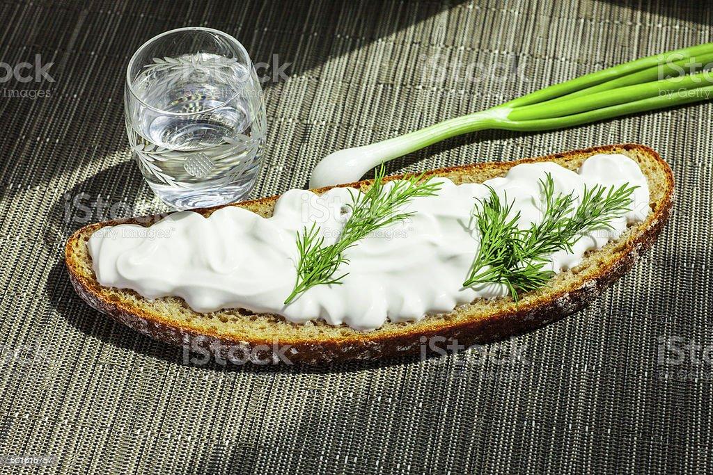 sour cream dill bread royalty-free stock photo