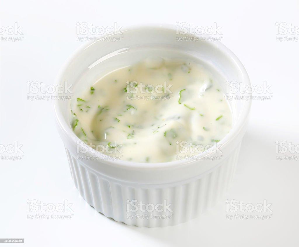 Sour Cream Dressing stock photo