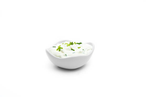 Sour Cream on white background Sour Cream on white background sour cream stock pictures, royalty-free photos & images