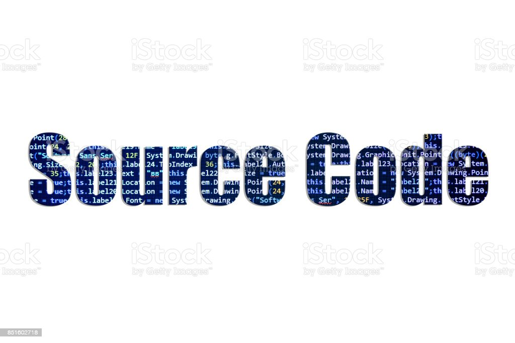 Source Code concept on a white background stock photo