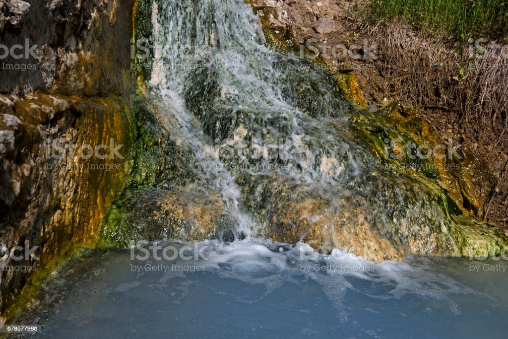 Source of mineral water stock photo