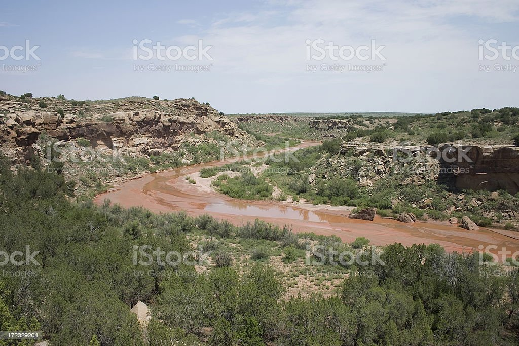 source of the Red River royalty-free stock photo
