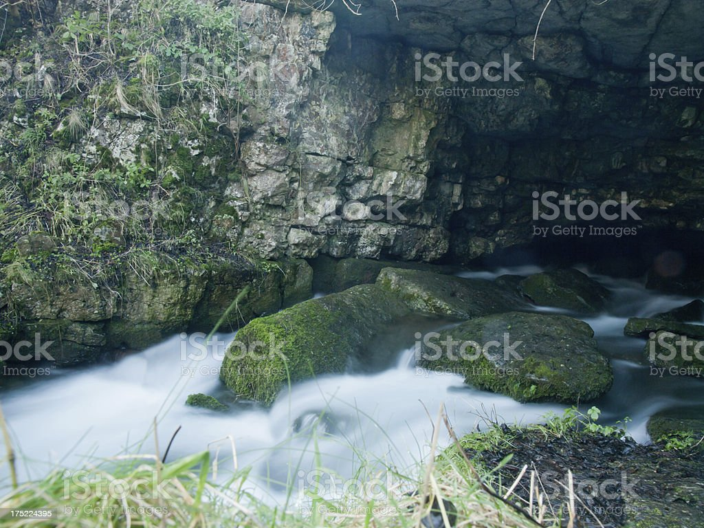 Source of the River Lathkill royalty-free stock photo