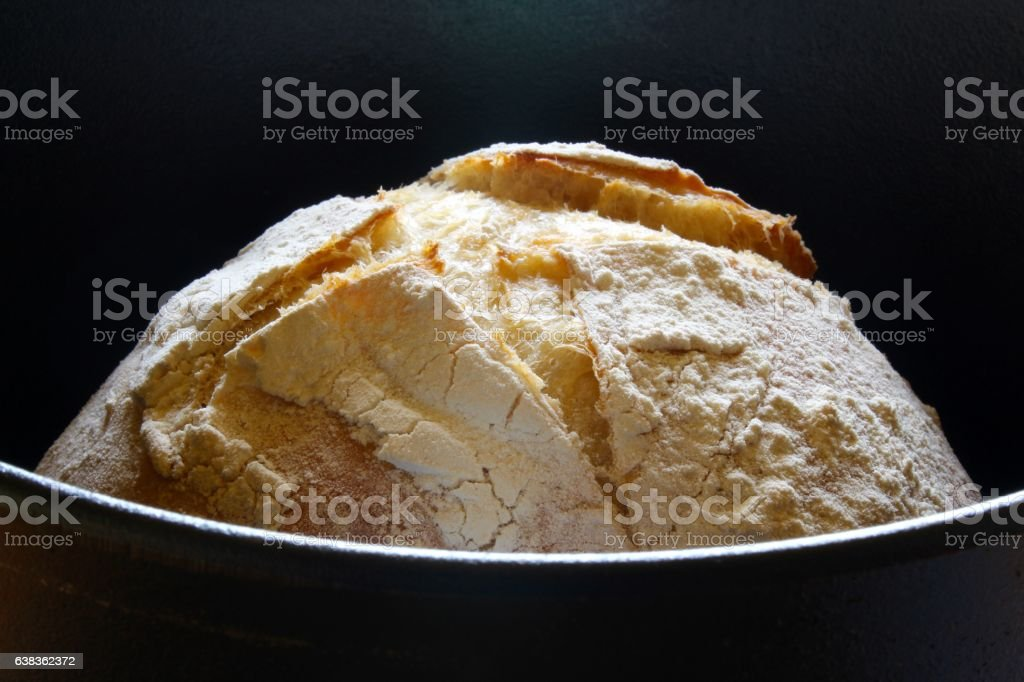Sourdough Bread in Dutch Over stock photo